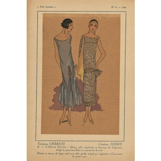 1924 Art Deco Fashion Pochoir Illustration