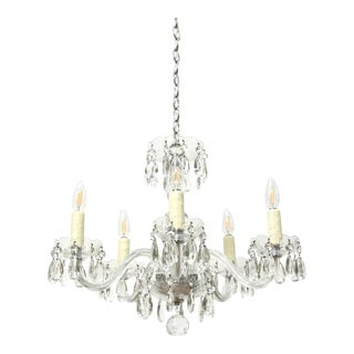 Small Bohemian Crystal Five Arm Chandelier