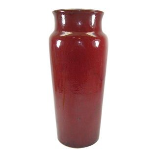 Vintage Chinese Copper-Red Glazed Porcelain Sleeve Vase