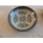 Image of Vintage Imari Dishes Encased in Pewter - A Pair