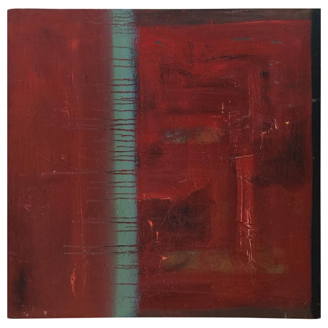 Image of Red Abstract Painting by Trung Quo Tran