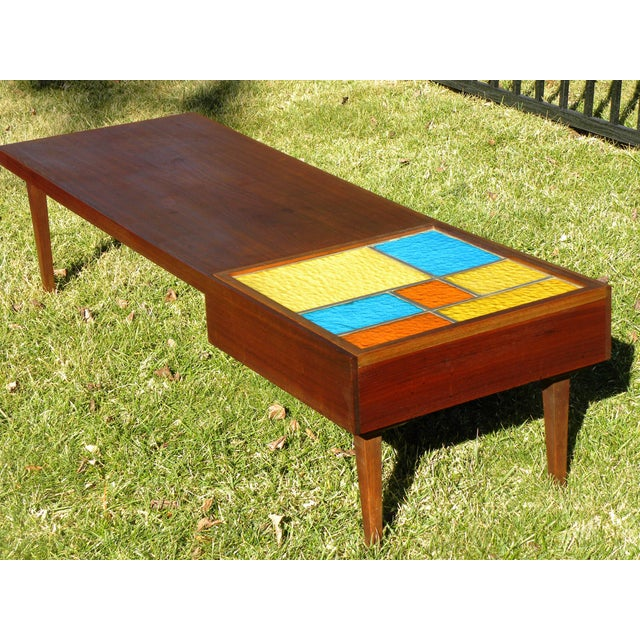 Mid-Century Coffee Table W/ Built-In Fondue Stove - Image 2 of 8
