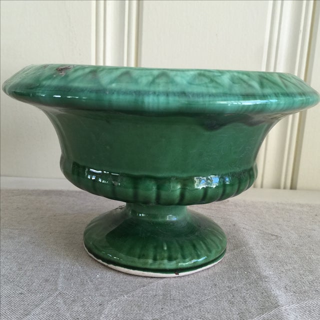 Mid-Century Green Pottery Vessel - Image 2 of 7