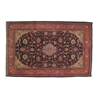 "Leon Banilivi Persian Navy Sarouk Carpet - 7'2' x 11'2"""