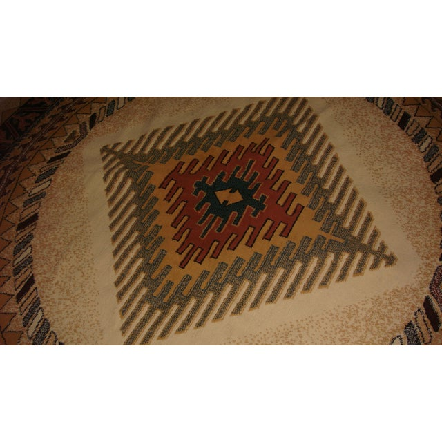 Round Native American Area Rug - 8 x 8 - Image 3 of 6