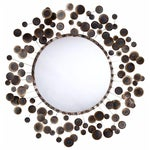 Image of Arteriors Mid-Century Style Iron Disc Mirror