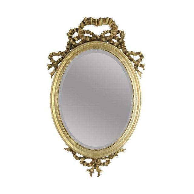 Gilded Ribbon Beveled Mirror - Image 1 of 2