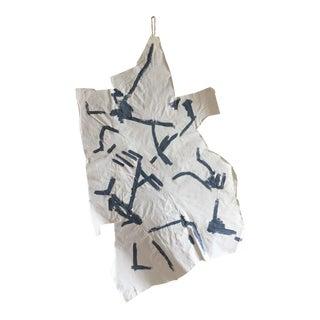 "Jessalin Beutler ""Grey Markings 1"" Hanging Muslin Painting"