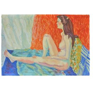 """Esther Akrish """"Pensive"""" Original Watercolor"""