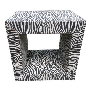 Vintage Faux Zebra Occasional Table