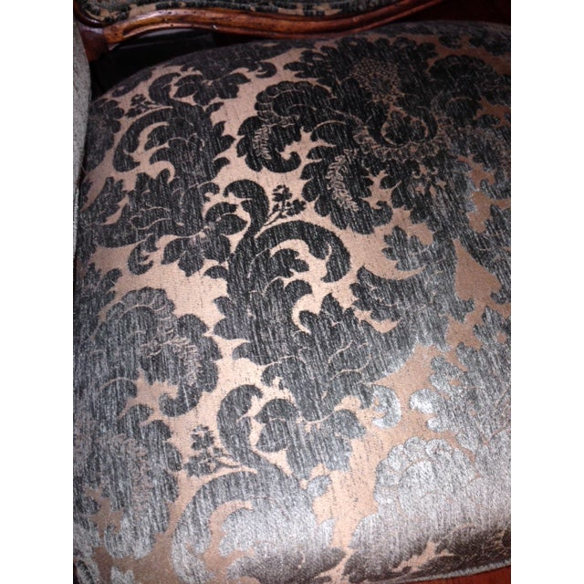 Handcrafted French Louis XV Style Bergere Chair - Image 5 of 10