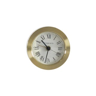 Tiffany & Co Brass Desk Clock
