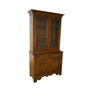 Ethan Allen Circa 1776 Collection Maple China Cabinet Cupboard