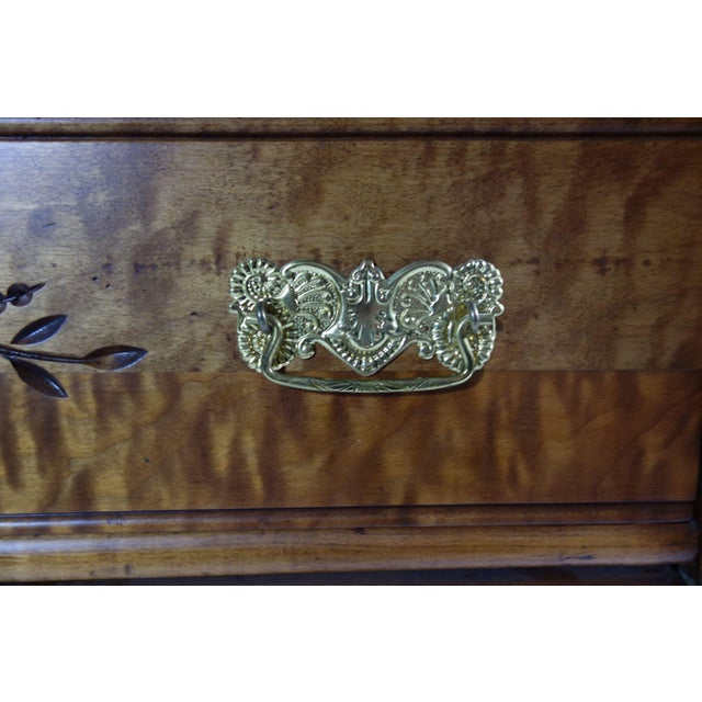 Wooden Dresser With Floral Inlay - Image 3 of 5