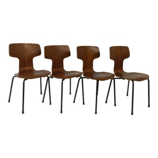 Arne Jacobsen for Fritz Hansen Teak Child's Chairs- Set of 4