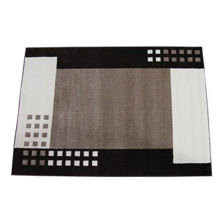 "Modern Brown Geometric Rug - 5'3"" x 7'7"""