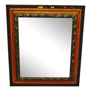 Decorative Wood Gesso Mirror