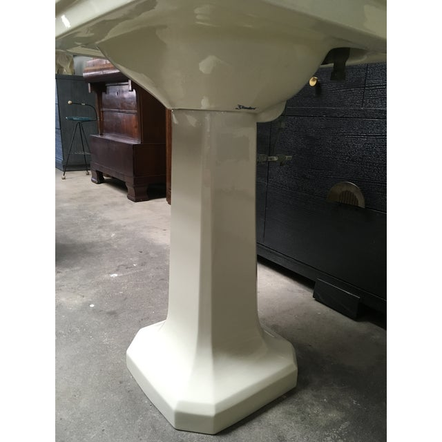 American Standard Antique Art Deco Pedestal Sink - Image 10 of 11