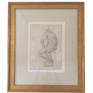 Gold Framed Nude Sketch