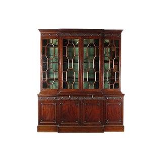 Georgian-Style Breakfront Display Cabinet