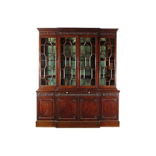 Georgian-Style Breakfront Display Cabinet