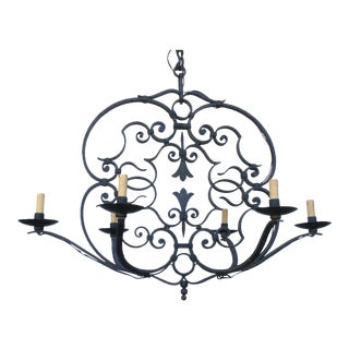 Late 20th Century Country House Iron Chandelier