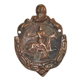 Templar Knight on Horseback Door Knocker