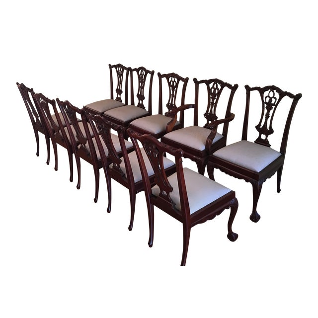 Vintage Chippendale Chairs - Set of 10 - Image 1 of 10