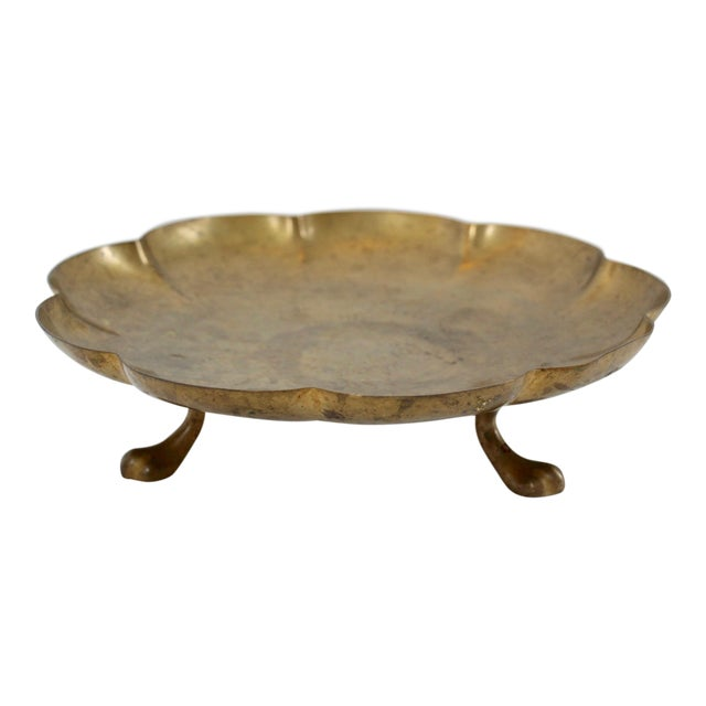 Brass Paw-Foot Scalloped Tray - Image 1 of 5