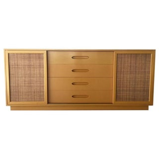 Harvey Probber Lacquered Credenza With Caning