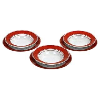 Fitz & Floyd Rondelet Bowls & Plates - Set of 6