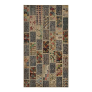 "Over-Dyed Distressed Patchwork Area Rug - 3'9"" X 6'10"""