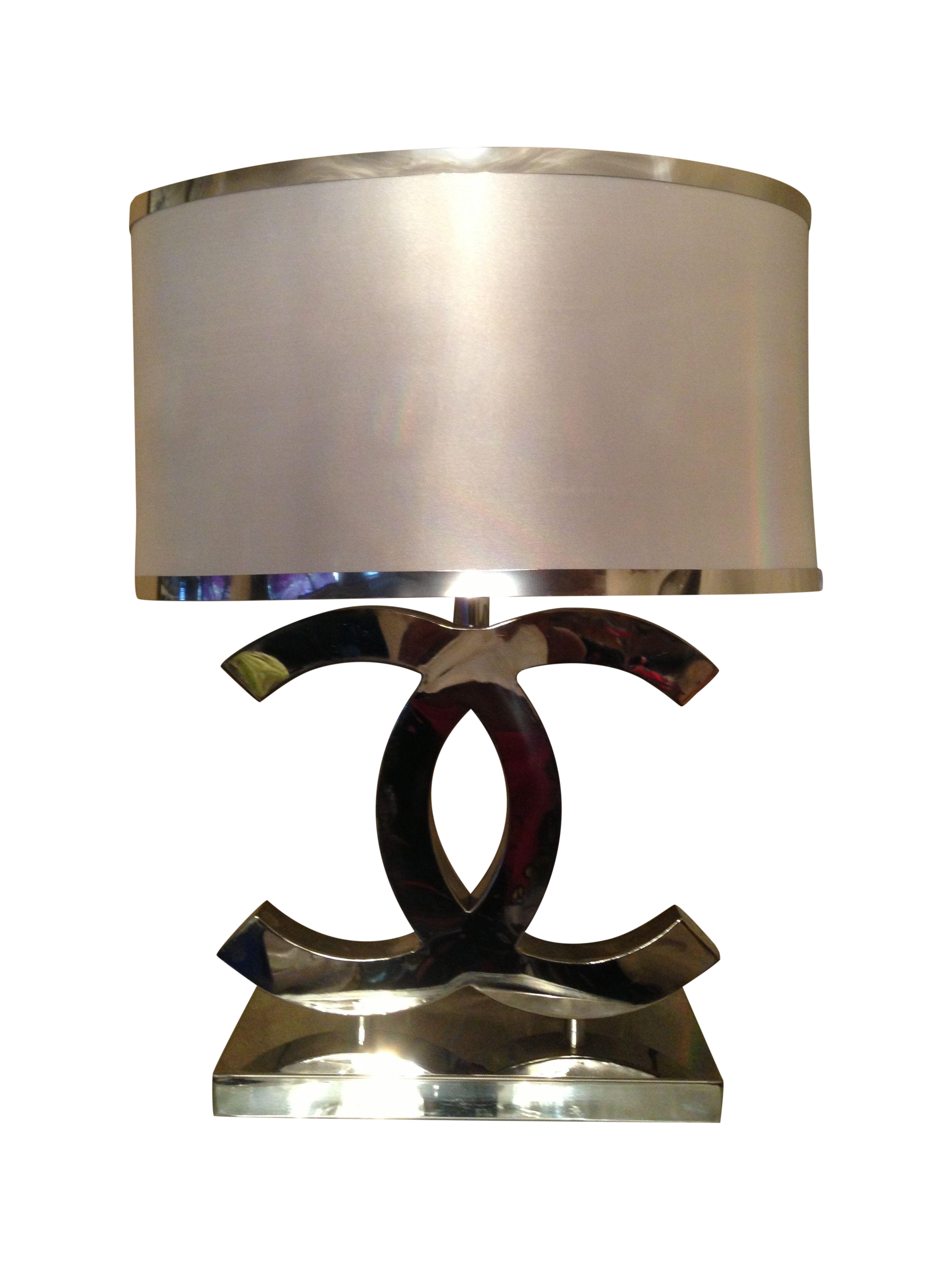 Home lighting table lamps chanel silver table lamps a pair