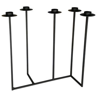 Large Architectural Iron Candelabra Centrepiece by Van Keppel Green, 1960s