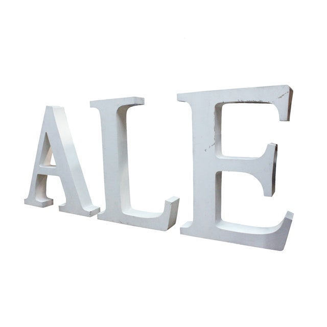 Vintage Ale Sign Letters - Image 2 of 3
