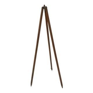 Antique Wood Surveyor's Tripod