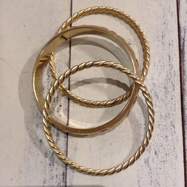 Image of Vintage Brass Bangles - Set of 3