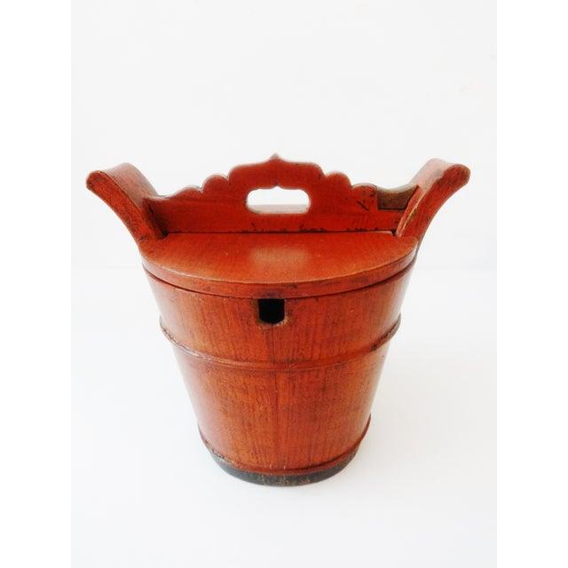 Vintage Chinese Food Carrier Rice Basket - Image 3 of 6