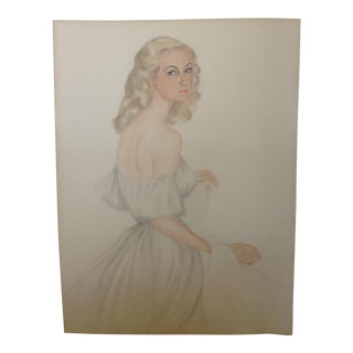 1947 Hollywood Portrait in Pastel