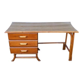 Mid Century Modern Mini Wood Writing/Vanity Desk