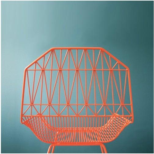 Orange Organic Modern Farmhouse Lounge Chair - Image 3 of 3