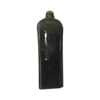 Early 1700s Deep Green Dutch Gin Bottle