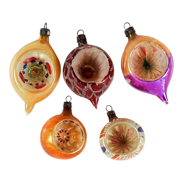 Group of Various Vintage Christmas Ornaments - Set of 5 - Image 1 of 3