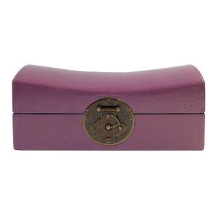 Chinese Purple Pillow-Shaped Box