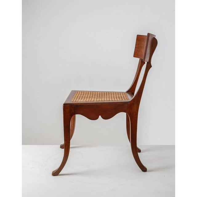 Ole Peter Momme Oak and Cane Klismos Chair, Denmark, 1880s - Image 3 of 10