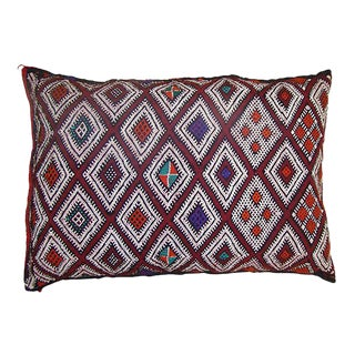 Moroccan Sham with Purple Diamonds