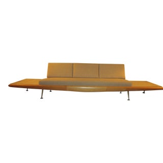 Rare Adrian Pearsall Platform Sofa with Travertine Side Tables