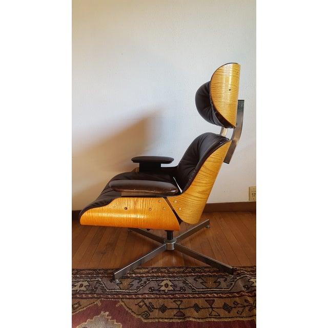 Vintage Herman Miller Eames Era Style Chocolate Selig Plycraft Lounge Chair - Image 4 of 11