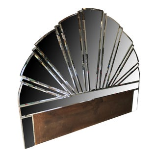 Mirrored Sunburst King Size Headboard