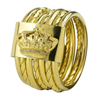 Italian Gold Electroplated Multi-Bangle Bracelet
